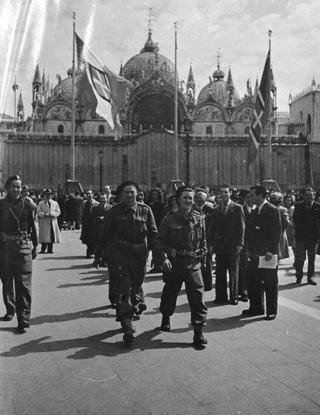 Allied troops in St Marks Square, Venice.
